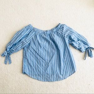 H&M Off the Shoulder Bow Top